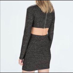 Zara Traffaluc Backless Dress size M